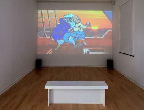 BILLEDSERIE: Andreas Schulenburg og Birgit Johnsen & Hanne Nielsen på Viborg Kunsthal</br>Andreas Schulenburg. Body Tequila, 2003. Video. Together But Still Alone på Viborg Kunsthal d. 6. sep - 24. nov 2019. </br>Foto: Viborg Kunsthal