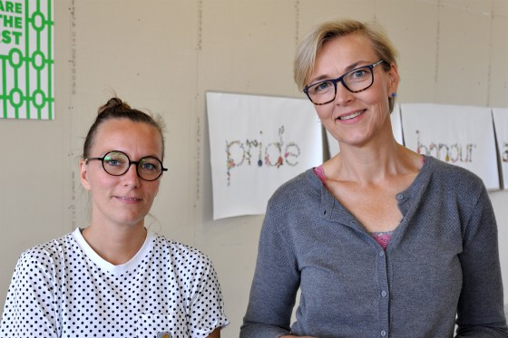 The Catalyst Experiment: Sproget har en fortræffelig evne til at skabe refleksion</br>Lise Haurum Christensen og Trine Rytter Andersen står bag Project Art Writing og The Catalyst Experiment .</br>Foto: Sixten Therkildsen
