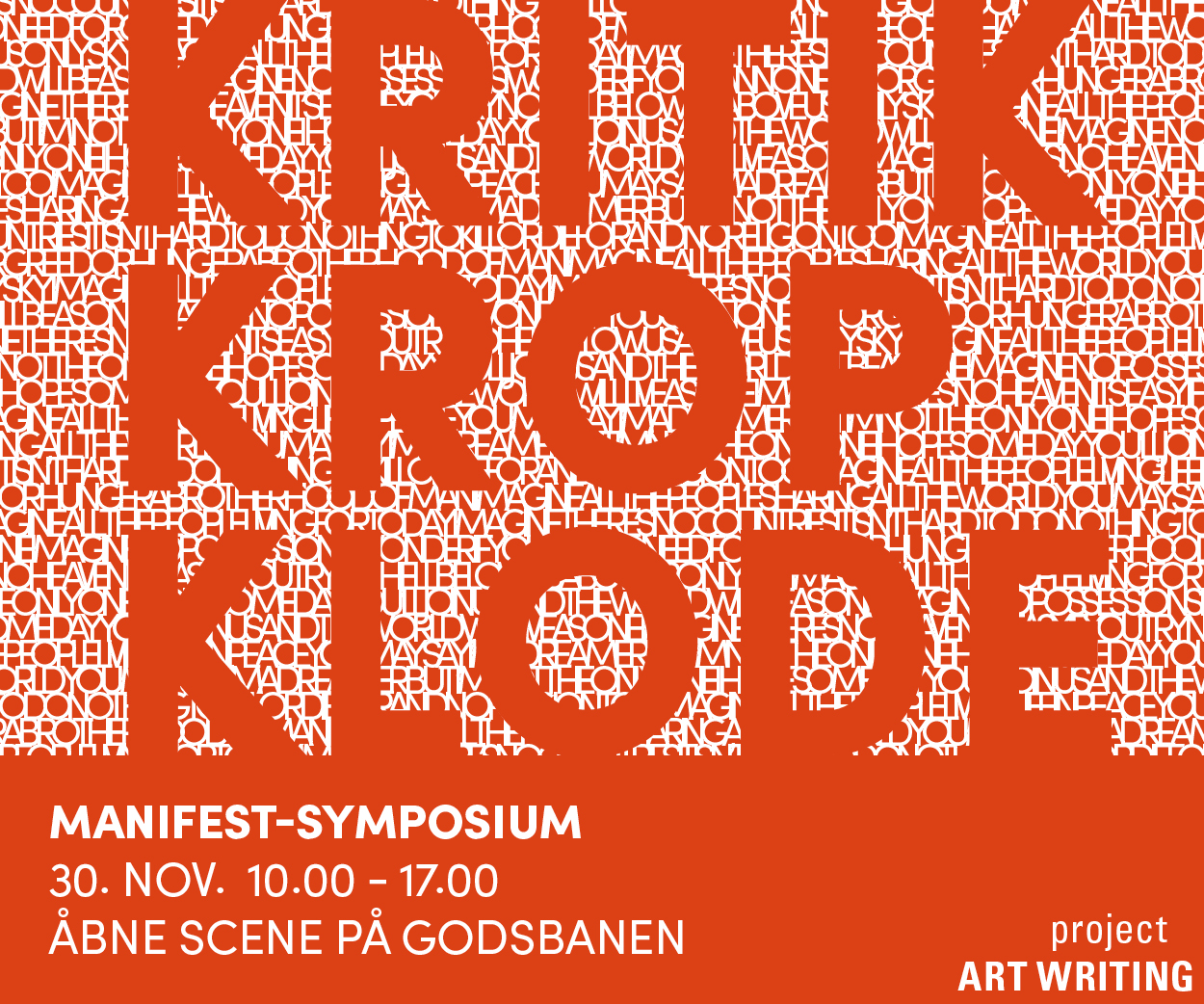 Project Artwriting manifest symposie