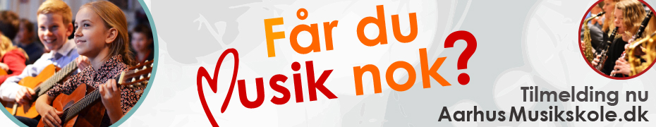 Aarhus Musikskole megaboard forår2017