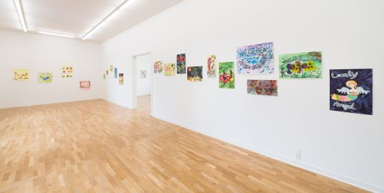 BILLEDSERIE: Andreas Schulenburg og Birgit Johnsen & Hanne Nielsen på Viborg Kunsthal</br>Andreas Schulenburg. Installation view, 2019. Akvareller, tusch og farveblyant på papir med beskidt vand. Together But Still Alone på Viborg Kunsthal d. 6. sep - 24. nov 2019. </br>Foto: Viborg Kunsthal